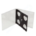 CDR Double Jewel Case Black Tray 10mm