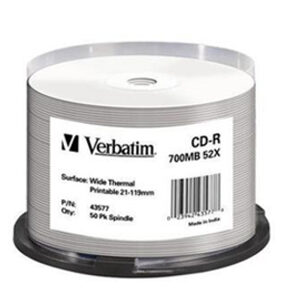 Verbatim CDR White Thermal 50 pack