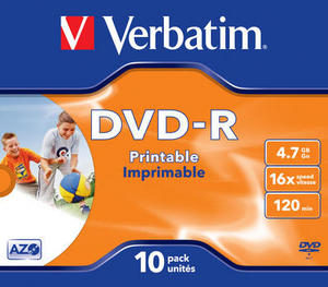 Verbatim DVD-R Printable in JC