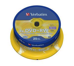 Verbatim DVD+RW 25pack