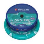 Verbatim DVD-RW 4.7GB Rewritable 25 Pack