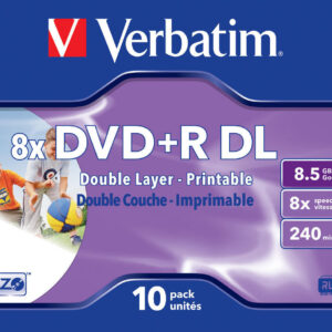 verbatim dvd+r DL 85GB in jewel casejc