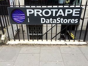 Protape Datastores Sign