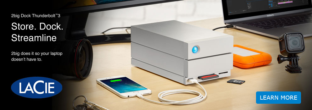 LaCie 2big Dock Thunderbolt 3 and Card Reader