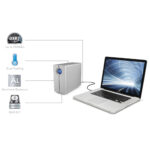 LaCie 2big Quadra with Mac Book Pro