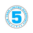 5 year Warranty-Icon
