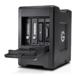 G-Technology G-SPEED Shuttle Thunderbolt 3 with ev Bay Adapters Open