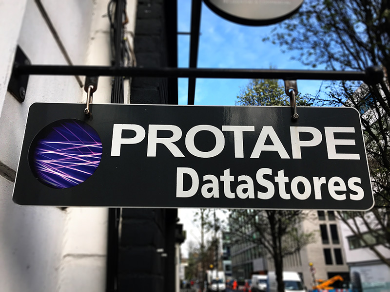 Protape DataStores Sign on Charlotte Street